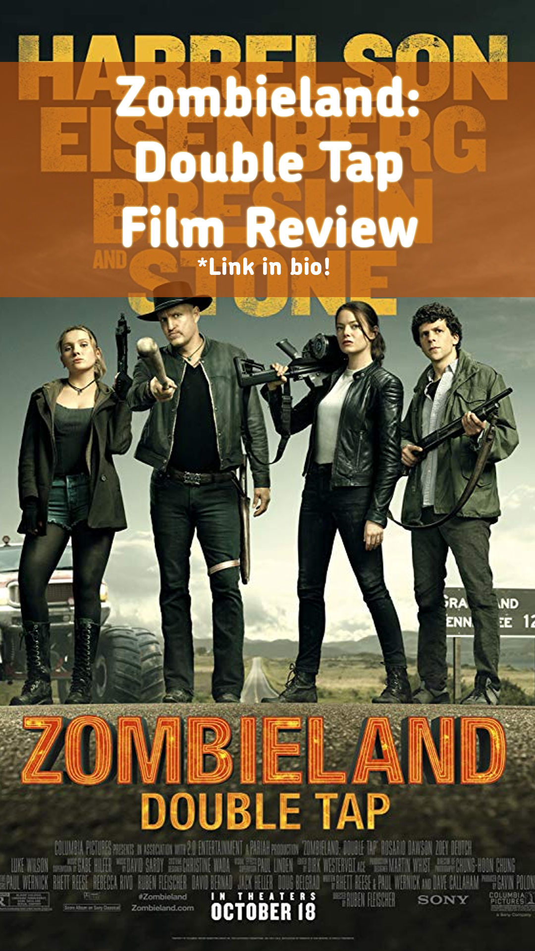 Zombieland: Double Tap Film Review